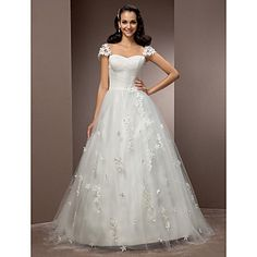 Ball Gown Sweetheart Court Train Tulle Wedding Dress (466970) – USD $ 249.99
