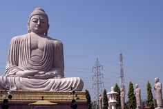 Big Buddha in a field. Bodh Gaya, Bihar