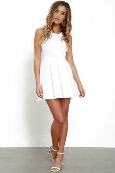 981f72ee25b0 Little White Dresses|Long & Short White Dresses for Juniors  Nattklubbsklänningar, Maxiklänningar, Festklänningar