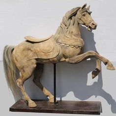 Image result for carousel horse wood carving patterns  navy