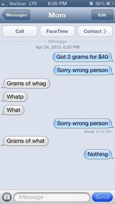 What Happens If You Text Your Parents Pretending To Be A Drug Dealer. Omg I can't breathe...