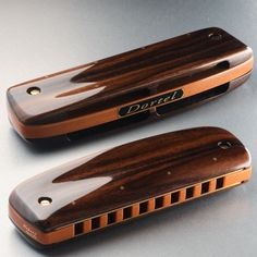 Harmonica Type 3 available : Palissandre Santo and Peroba - Dortel-Harmonicas Instruments, Type 3, Saints, Bass Guitars, Music, Musical Instruments, Tools