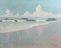 blastedheath:  Louis Cylkow (Polish, 1877-1934), La plage en Bretagne [The beach in Brittany]. Oil on canvas, 65 x 81cm.