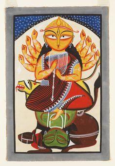Durga Painting, Buddha Painting, Madhubani Art, Madhubani Painting, Indian Folk Art, Indian Artist, Phad Painting, Jamini Roy, Rajasthani Art