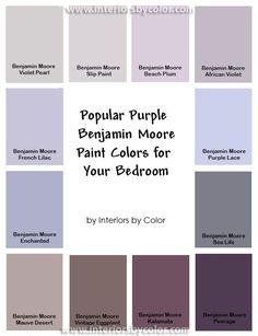 Por Purple Paint Colors For Your Bedroom