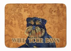 Brussels Griffon Wipe your Paws Machine Washable Memory Foam Mat LH9462RUG