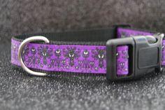Haunted Mansion Dog Collar, purple wallpaper motif, heavy-duty nylon adjustable, S by ZipadeedooDogs on Etsy https://www.etsy.com/listing/452823498/haunted-mansion-dog-collar-purple