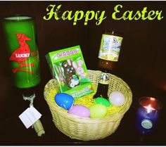 #happyeaster hope everyone has a great day with #family and #friends #beer #candle #winecandles #Easter #easter #candlemaking #candlelove #easterbasket #luckyduck