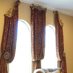 Curtains and Drapes Los Angeles: #drapery #hardware combo with #curtain #panels and #swarovskielements