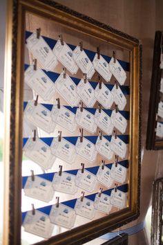 Salt Harbor Designs - seating cards in frame