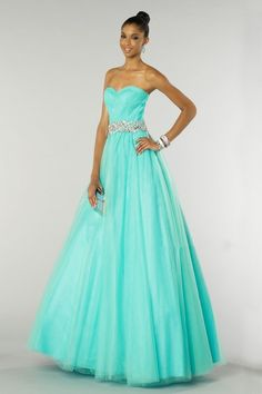 Alyce Paris - 6388 Dress in Mint Satin Tulle, Tulle Ball Gown, Ball Dresses, Ball Gowns, Prom Dresses, Wedding Dresses, Glamorous Evening Dresses, Beautiful Evening Gowns, Strapless Sweetheart Neckline