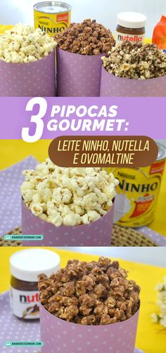 Jewellery For Lady - Gourmet Popcorn, Great Recipes, Favorite Recipes, Healthy Recipes, Gourmet Cupcakes, Dessert Recipes, Desserts, Chocolate, Nutella Recipes