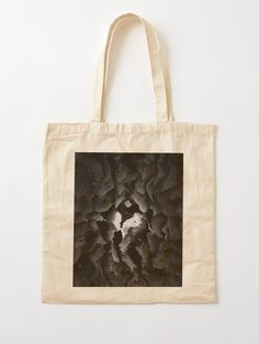 """The Ghostheart"" Cotton Tote Bag, print design by Asmo Turunen. #design #totebag #shoppingbag #kestokassi #atcreativevisuals"