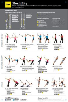 trx all body flexibility poster Trx Training, Mental Training, Fitness Tips, Fitness Motivation, Health Fitness, Suspension Training, Trx Suspension, Trx Yoga, Trx Class