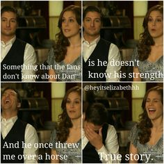 Daniel Lissing and Erin Krakow lol When Calls The Heart