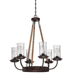 Jeremiah by Craftmade Thornton 6 Light Chandelier in Aged Bronze 36126-ABZ #Craftmade