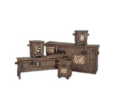 Woven Basket Trunks (Set of 5) - Guild Master 713003S (Shipping Included)