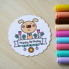 #thedailymarker30day #blackberryjellys #digi #digistamp #digitalstamp #stamp #coloringchallenge #coloring #markers #copic #copicmarkers #happybirthday #cute #scrapbooking #dog #drawing #раскрашивание #маркеры #рисунок #скрапбукинг