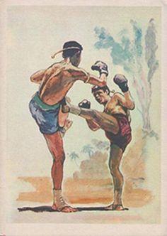 Muay Thai Boxing artwork Art Of Fighting, Mma Fighting, Muay Boran, Boxing Gym, Thai Art, Combat Sport, Thai Style, Fight Club, Sports