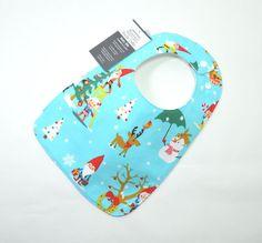 Baby Bib Toddler bib 2 sizes Christmas Bib Xmas by TextileTrolley