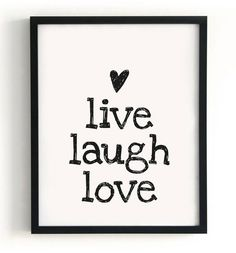 Paqhuis poster Live, laugh and love Wall Quotes, Words Quotes, Sayings, Live Love, My Love, Just In Case, Just For You, Photo Deco, Lema