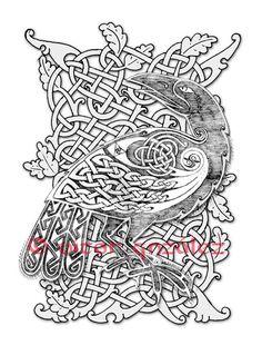 Celtic Raven II by twistedstrokes.deviantart.com on @deviantART