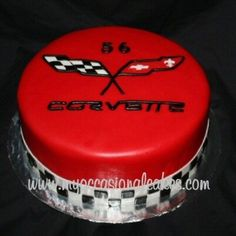 Corvette(R) Logo cake 50th Birthday Party, Boy Birthday, Birthday Cakes, Birthday Ideas, Cupcakes, Cupcake Cakes, Corvette Cake, Rehearsal Dinner Decorations, Cake Logo
