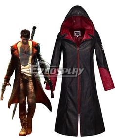 Pls email us if you need the costume, wig, shoes, weapon or other accessories of this character.  Email address: Ezcosplay@gmail.com New DMC Devil May Cry 5 Jacket Dante Cosplay Costume Coat Men's Shirt Halloween Costume - EDC0013