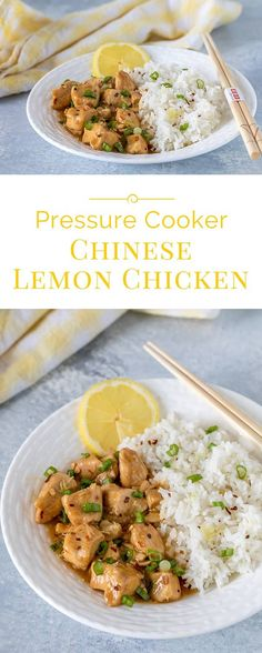 Tender pieces of chicken in a sweet lemon sauce with just a hint of ginger, garlic, and red pepper. A Pressure Cooker Chinese Lemon Chicken that will keep you at home instead of heading to your favorite Chinese restaurant.
