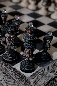 There's something about a beautiful chess set that transforms it from a game to a piece of art... ~~ Houston Foodlovers Book Club