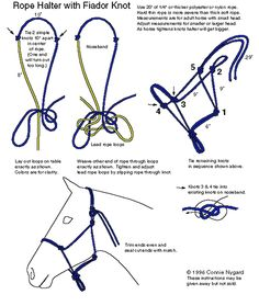 Handmade Homestead Natural Horsemanship Products - How To Tie Your Own Rope Halter