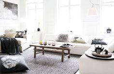 <3 Home of Hanne Berzant from By Nord   <3 beautiful coffetable from Snowdrops By House of Furniture