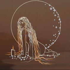 Tatoo Sakura, Painting Inspiration, Art Inspo, Art Sketches, Art Drawings, Pagan Art, Moon Art, Psychedelic Art, Art Pictures
