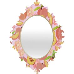 Lisa Argyropoulos Peaches On Pink Baroque Mirror | DENY Designs Home Accessories