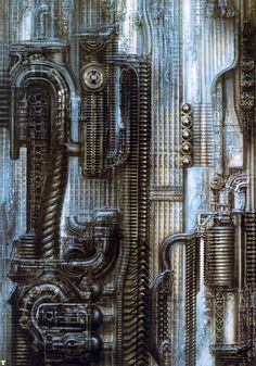 """""""NYC III Straight"""" by H. R. Giger."""