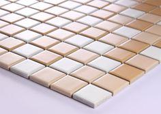 Beige Porcelain Square Mosaic Tiles Wall Designs Ceramic Tile flooring Kitchen Backsplash TC004