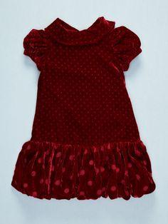 Monnalisa Velvet Drape Collar Dress by L.O.L. Kids on Gilt.com