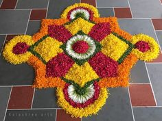 Rangoli for diwali Indian Rangoli Designs, Rangoli Designs Latest, Rangoli Designs Flower, Rangoli Border Designs, Rangoli Patterns, Colorful Rangoli Designs, Rangoli Ideas, Rangoli Designs Images, Flower Rangoli