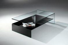elegant glass coffee table design