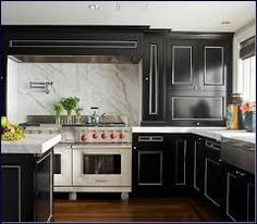 Black Lacquer Kitchen Cabinets ral 9017 traffic black - matte | ideas for the house | pinterest