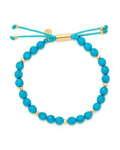 Gorjana | Blue Power Turquoise Bead Bracelet | Lyst