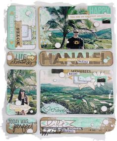 travel scrapbooking page