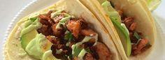 Calamari Tacos via www.goldenbasket.com #client Calamari, Tacos, Basket, Dishes, Ethnic Recipes, Food, Meal, Eten, Baskets