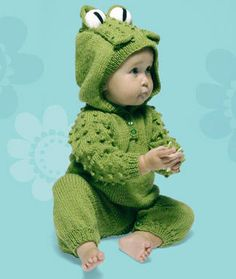 Knitting Project: Frog Suit with Hood