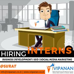 We are hiring interns. Contact us if you want to build a career in the field of #digitalmarketing #socialmeidamarketing #seo #SEM #PPC #marketing #management in #surat #Gujarat. Send your resume to info@ivipanan.co.in. Visit www.ivipanan.co.in