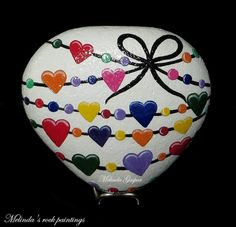Hearts in heart :: Melinda's rock paintings
