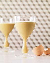 Café Brûlot Flip -- a smooth & spicy after-dinner drink, made with cognac, coffee liqueur, Grand Marnier and a whole egg.