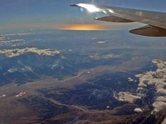 Flying over Southern California...beautiful view...