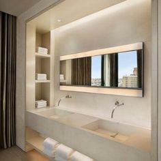 Duvarlarınızı Güzelleştirecek Niş Modelleri-50 Adet   Evde Mimar Concrete Sink, Concrete Bathroom, Precast Concrete, Western Bathrooms, Houzz Bathroom, Blitz Design, Ikea Makeover, Drawer Design, Bathroom Design Inspiration