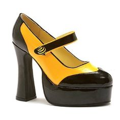 Yellow and Black Sexy Bumble Bee Costume Shoes! Price: $22.52 - $57.00